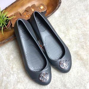Crocs | Gianna Disc Flats With Silver Buckle